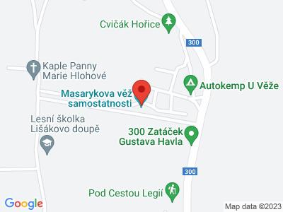 Rozhledna Masarykova věž samostatnosti map