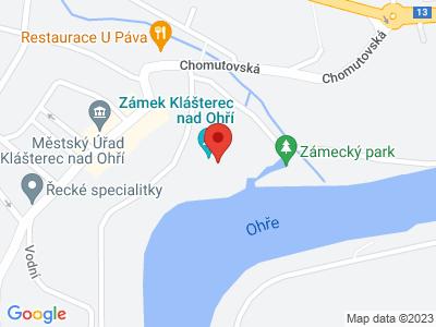 Klášterec nad Ohří (zámek) map