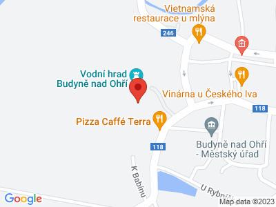 Budyně nad Ohří (hrad) map