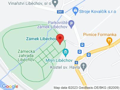 Liběchov (zámek) map