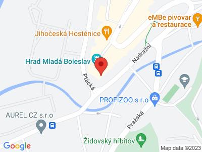 Mladá Boleslav (hrad) map