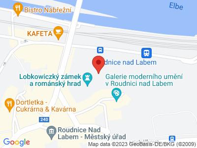Roudnice nad Labem (zámek) map