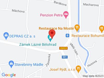 Lázně Bělohrad (zámek) map