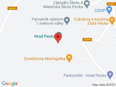 Pecka (hrad) map