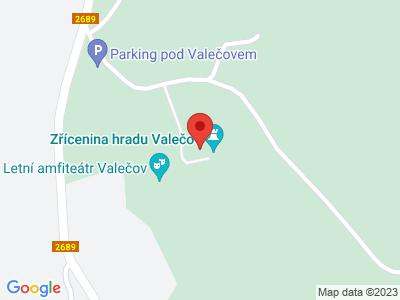 Burgruine Valečov map
