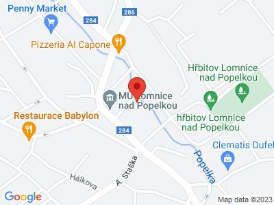 Rozhledna na Táboře u Lomnice nad Popelkou map