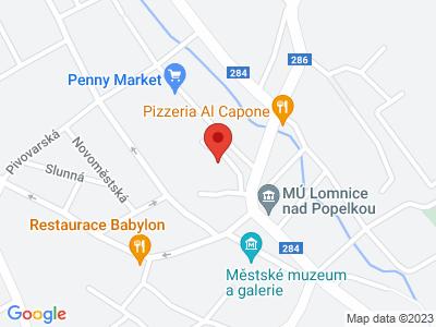 Lomnice nad Popelkou (zámek) map