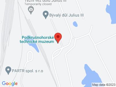Podkrušnohorské technical museum Most map
