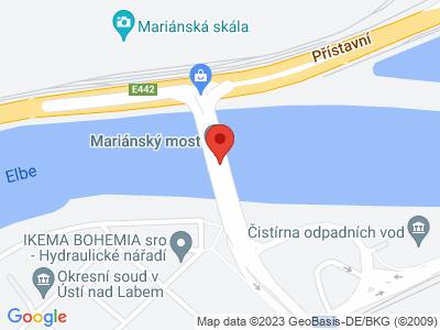 Mariánský most Ústí nad Labem map