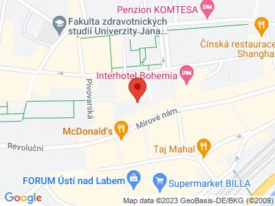 Ústí nad Labem map
