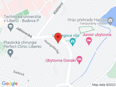Památník obětem komunismu Liberec map