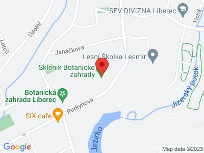 Botanická zahrada Liberec map