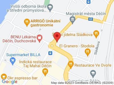Děčín map