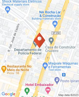 Mapa da empresa Delegacia da Policia Federal em Cruzeiro