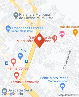 Mapa da empresa Pronto Socorro Municipal de Cachoeira Paulista