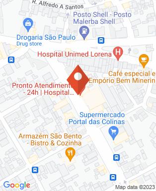 Mapa da empresa Unimed Lorena