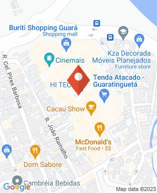 Mapa da empresa Cinemais - Buriti Shopping Guará