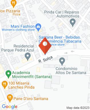 Mapa da empresa Depósito de Bebidas Santana