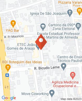 Mapa da empresa ETEC Paula Souza