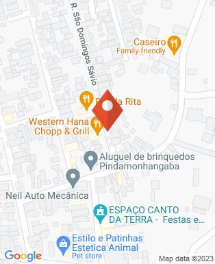 Mapa da empresa Western Hana Chopp & Grill