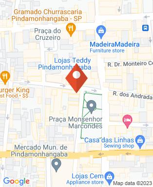 Mapa da empresa Camilari Colchões