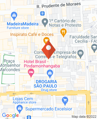 Mapa da empresa Portal Express