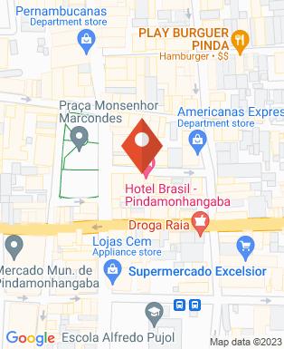 Mapa da empresa Hotel Brasil Pindamonhangaba