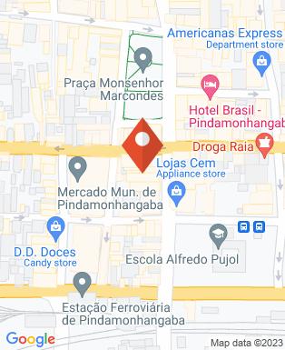 Mapa da empresa Casas Bahia