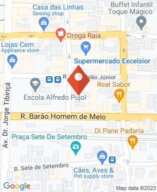 Mapa da empresa Center Tintas