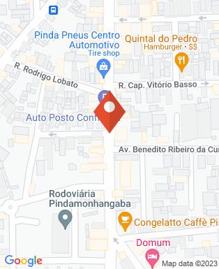 Mapa da empresa Taubaté Motos