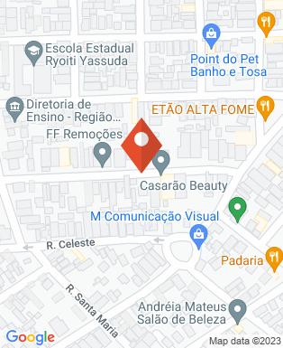 Mapa da empresa De Paula Gás e Água