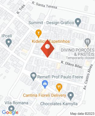 Mapa da empresa Atmosfera Drone