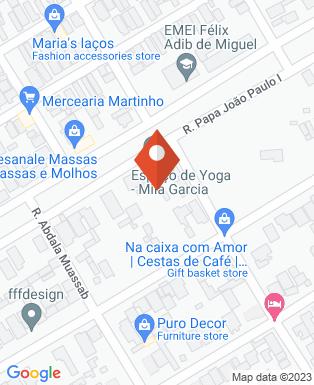 Mapa da empresa Mila Garcia escola de Yoga