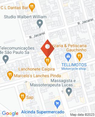 Mapa da empresa Lanche Caipira