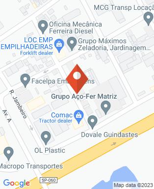 Mapa da empresa Vagros
