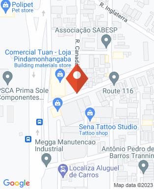 Mapa da empresa Café Pindense