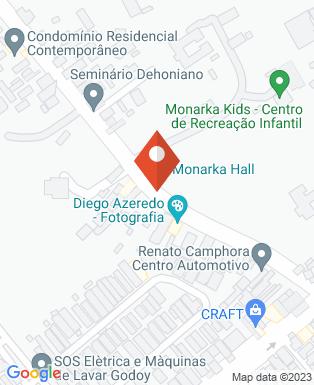 Mapa da empresa Monarka Hall