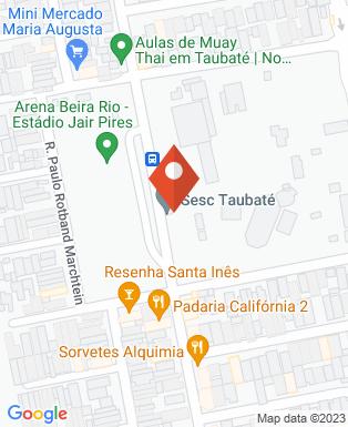 Mapa da empresa Sesc Taubaté