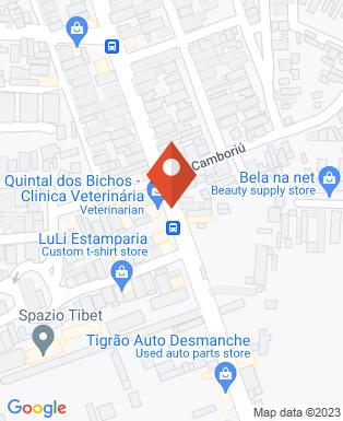 Mapa da empresa Quintal dos Bichos