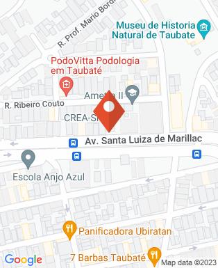 Mapa da empresa Associação Dos Engenheiros e Arquitetos de Taubaté