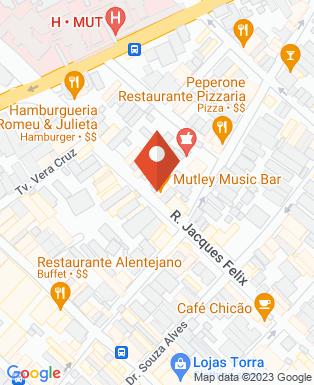Mapa da empresa Mutley Music Bar