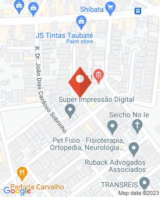 Mapa da empresa Pet Fisio Taubaté