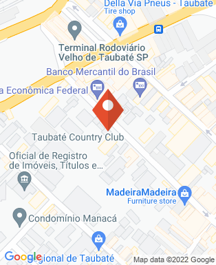 Mapa da empresa Taubaté Country Club