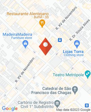 Mapa da empresa Matula Pão de Queijaria