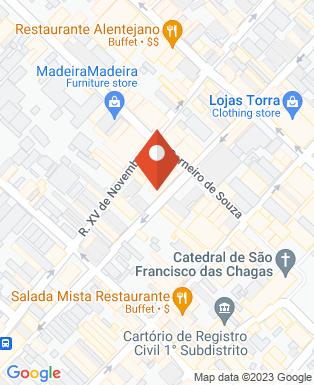 Mapa da empresa Henrique Leitte Massagem e Depilação