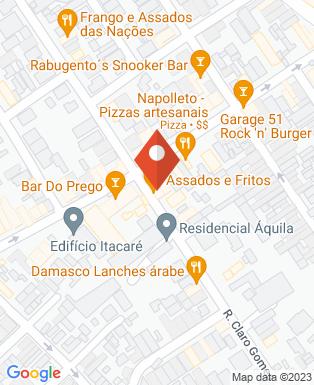 Mapa da empresa Danisan Sushi Delivery