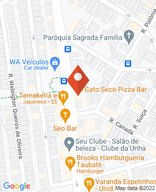 Mapa da empresa Gato Seco Pizza Bar - Taubaté