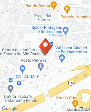 Mapa da empresa Centro das Indústrias do Estado de São Paulo - Taubaté