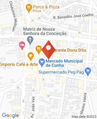 Mapa da empresa Câmara Municipal de Cunha