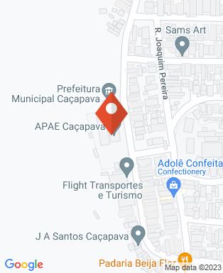 Mapa da empresa APAE de Caçapava